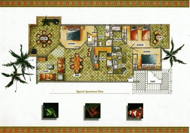 Floor plan of typical apartment 140m2