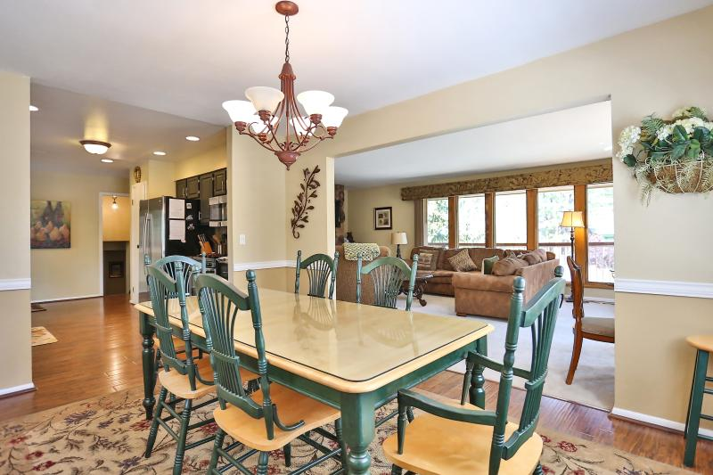 Spacious open floor-plan, light and bright with lots of windows!