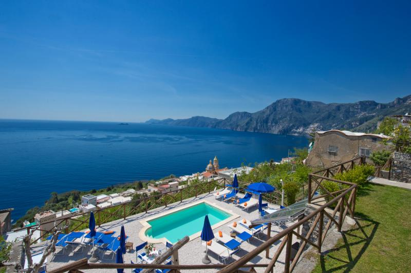 our beautiful pool shared with few other guests of our Villa Il Frantoio, amazing views on Capri