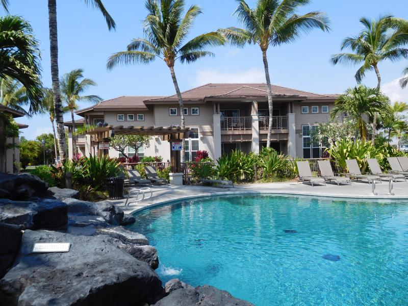Villa Overlooks Waikoloa Colony Villas Lava Rock Waterfall, Palm-Ringed Pool.