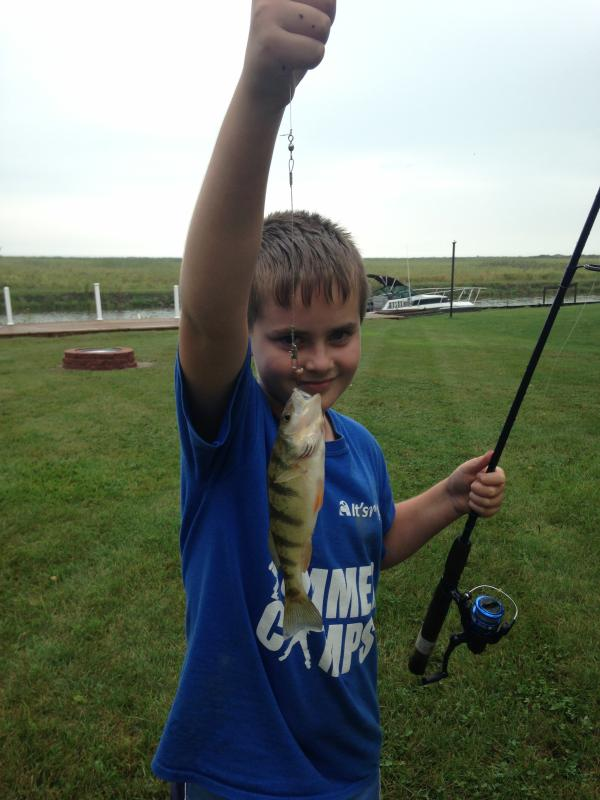 Lots of perch, bluegill, bass, walleye can be caught right from the dock.