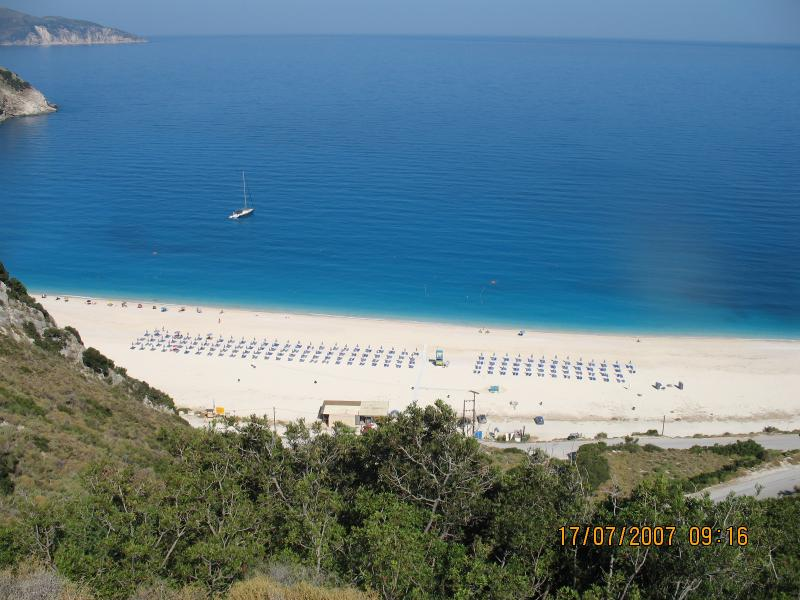 Myrtos beach, about 45 minutes from Lixouri - this is the most magnificent beach.