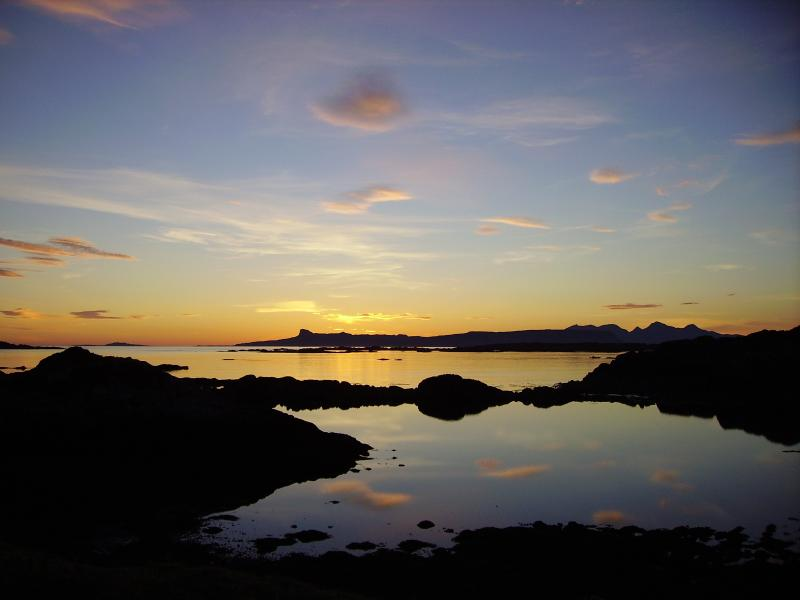 sunset at Arisaig