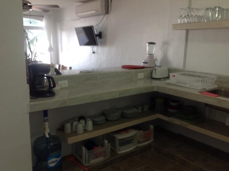 Ample open kitchen