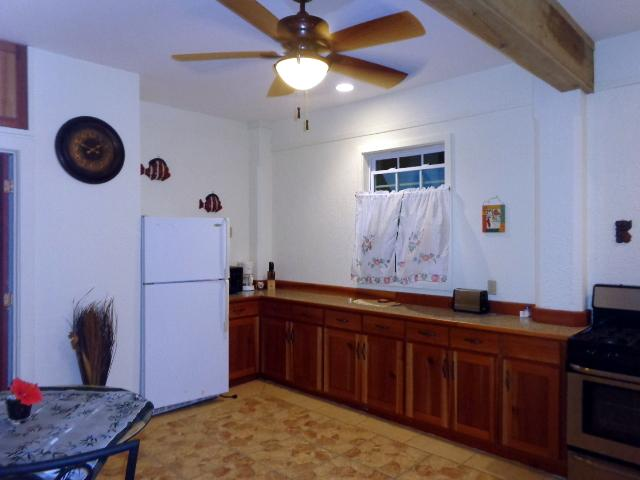 Fully furnished kitchen with everything in place for a quick snack or full meal preparation!