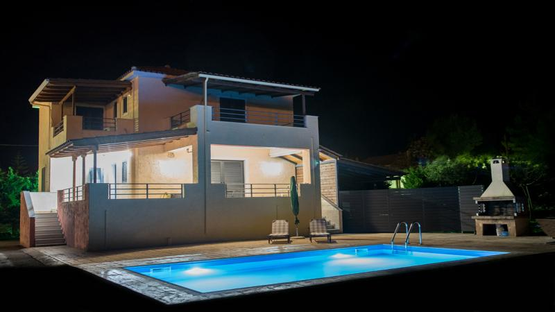 Lefkada 2 level Private Villa with pool,B.B.Q. and large gaden