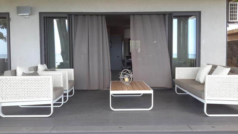 terrace and villa