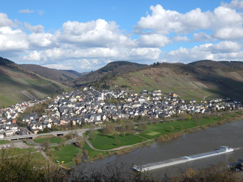 View of the Mosel and Enkirch