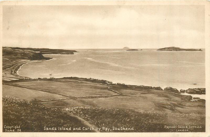 Not much has changed in this corner of Kintyre. Sanda Island and Carskiey Bay in 1959.