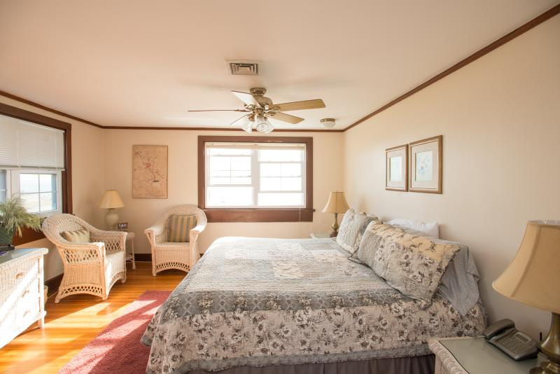 Master Suite with views from all windows on the water