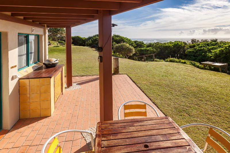 Terrace, beach only 20m from house