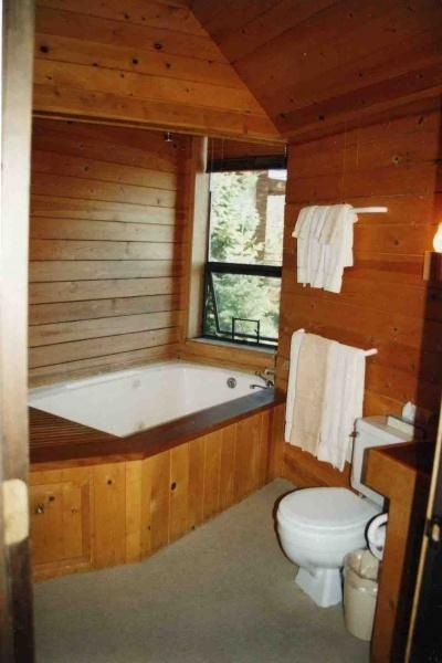 One of the bathrooms with whirlpool tub and dramatic views
