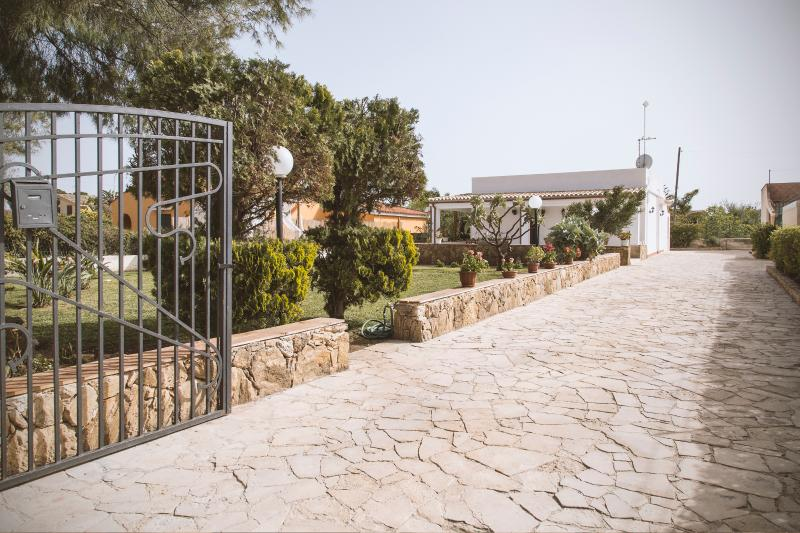 The entrance of the villa where to park your car