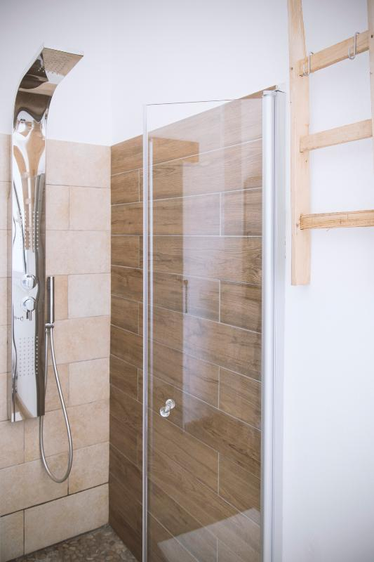 The large shower