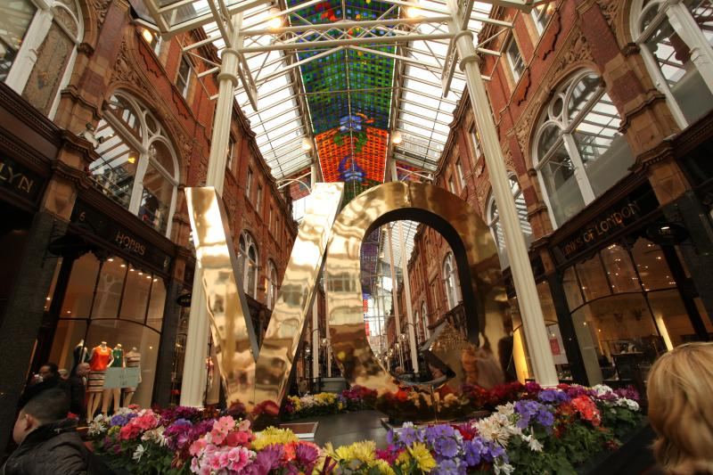 Victoria Quarter is a stunning upmarket shopping arcade in the city centre