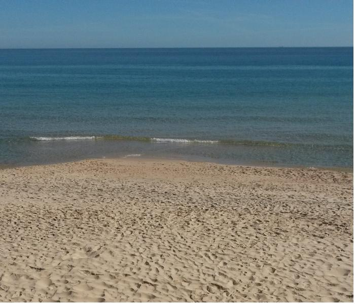 The beach just 800m away