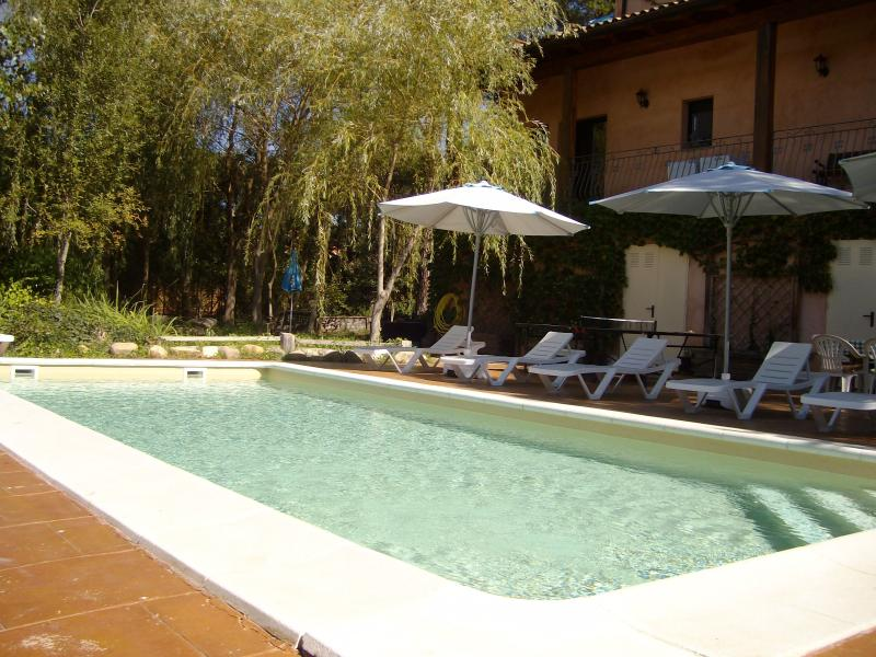 Partial view of the pool area