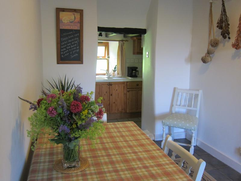 entrance hall and dining area