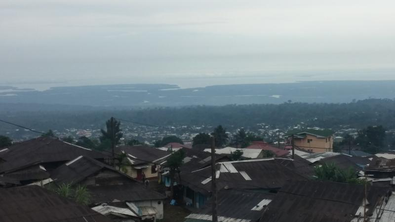 view on Buea and the see