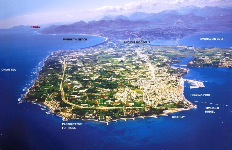 Preveza:the island that became ashore