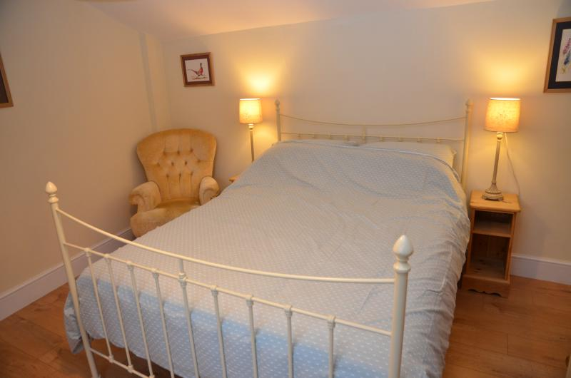 Luxurious king size bed.