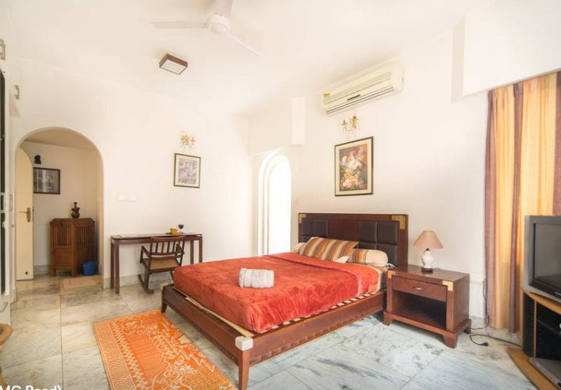 Bedroom  - super spacious, with AC , Open balcony , TC , DVD Player ..