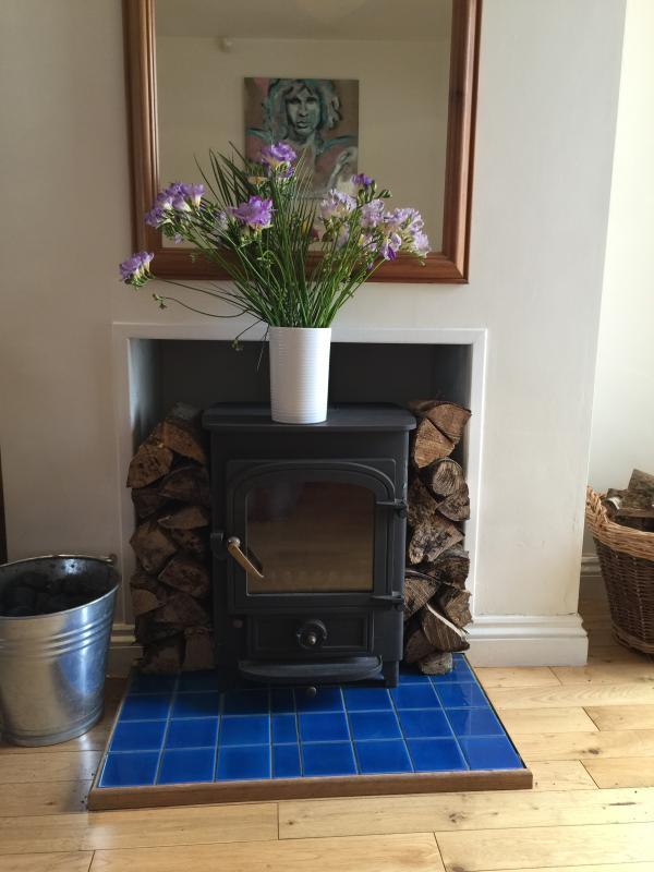 Log burner for winter