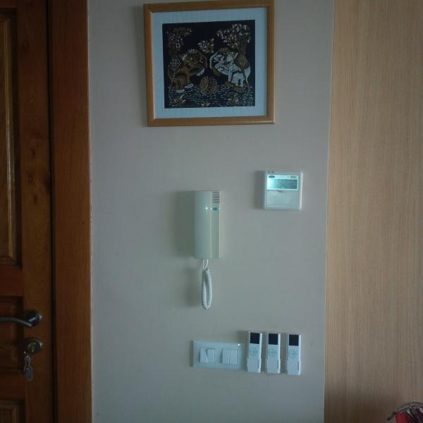 intercom and remote control of terrace curtain