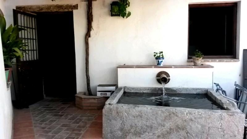 Le bassin à l'entrée du Carmen