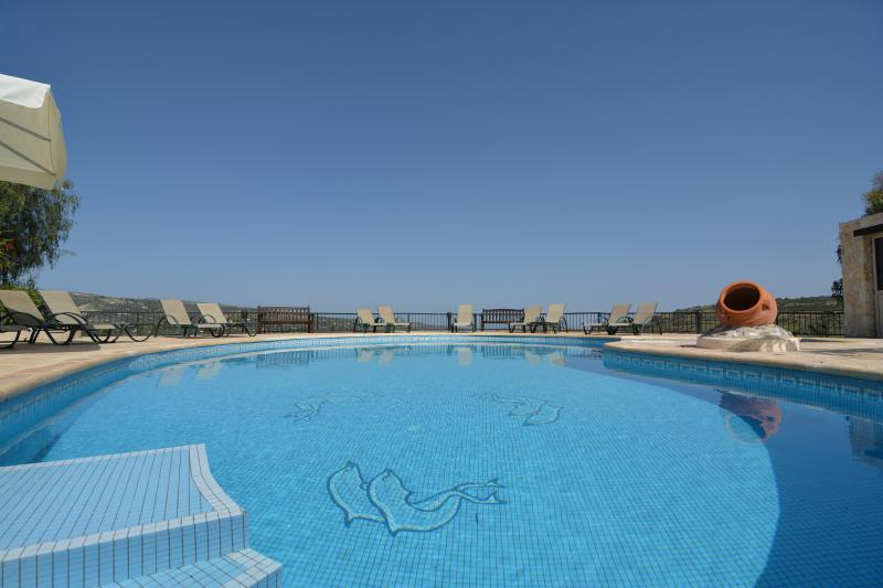 Relax and enjoy the stunning views and the large swimming pool