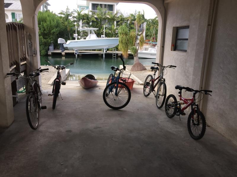 Kayaks & Bikes at Boat Ramp (Included)