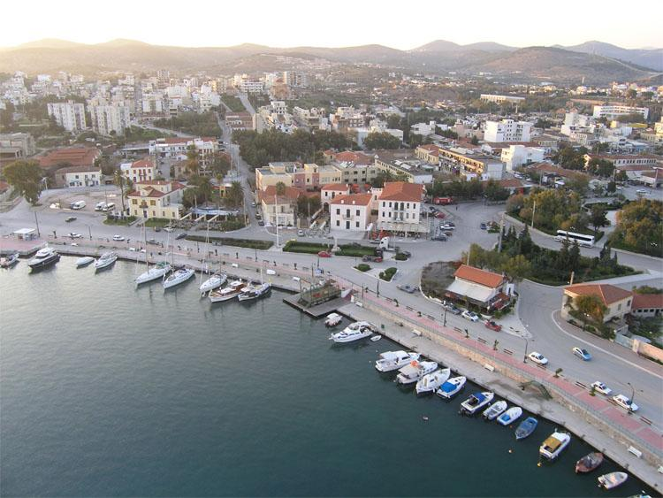 Lavrio port-town;supermarkets,bakery,butcher and taverns are in abundance and Yacht regattas held.