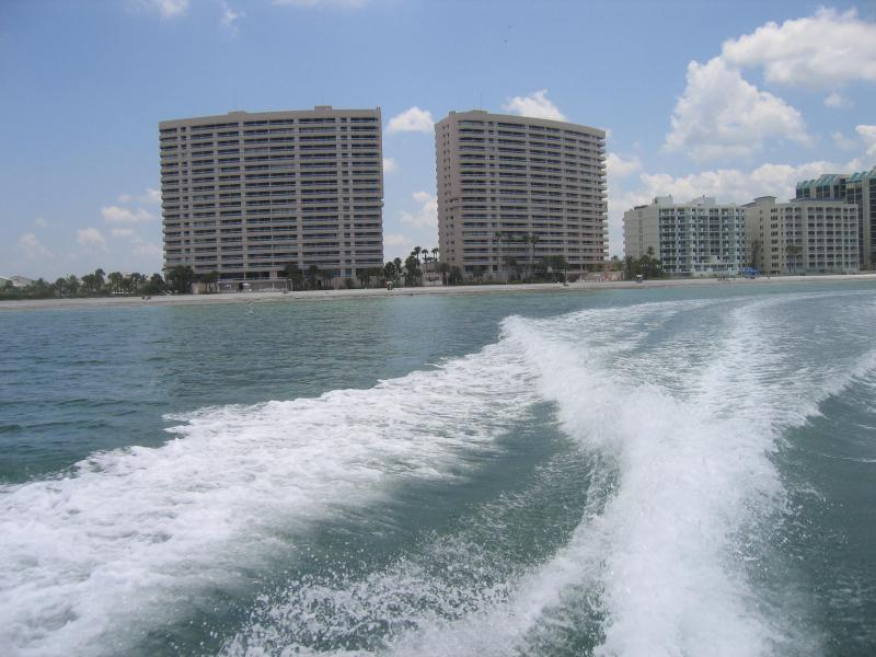 Crescent Beach Club from the Gulf of Mexico