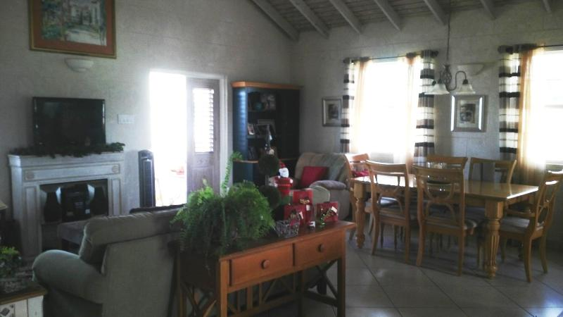 This is a view of the living and dining area