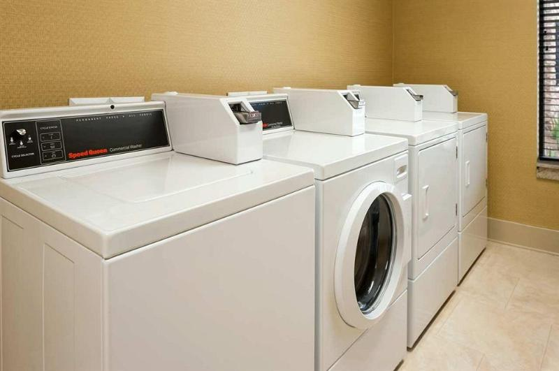 Coin operated laundry in basement