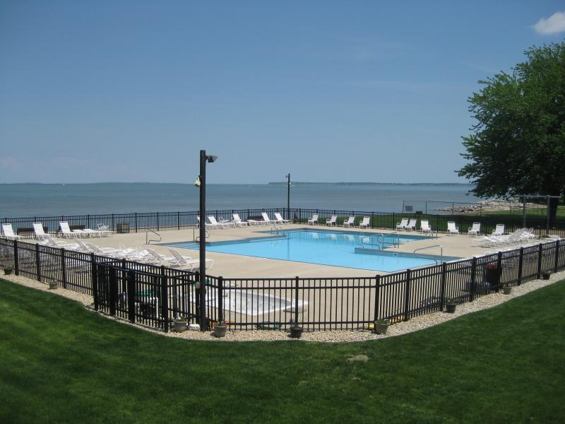 View of Pool from Front of Condo