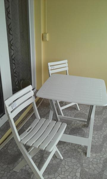 Patio furniture on the Balcony