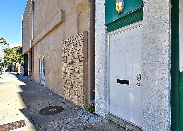 Front Door looking down Chaparral Street