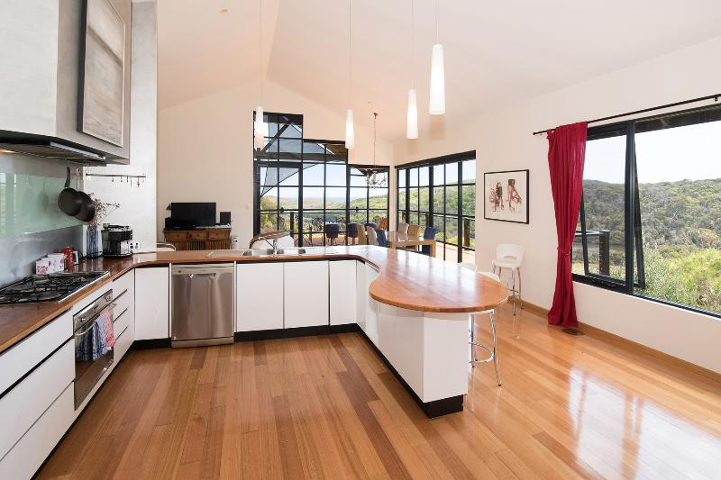 Fully equipped kitchen with Smeg oven at Pearl River Houses
