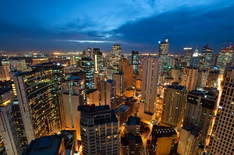 Great city lights view and during clear days will get a view of Manila bay and beautiful sunset