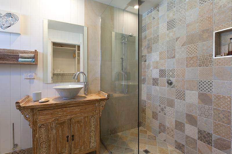 Spacious ensuite shower attached to Master bedroom (upstairs)