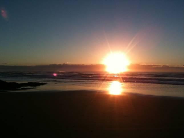 Sunrise over Yaroomba Beach