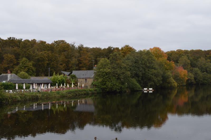 The Lake side at La Foret de Villecartier, 2 km outside the village