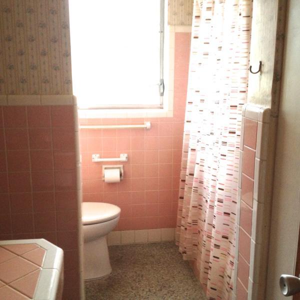 Bathroom open to 2nd bedroom