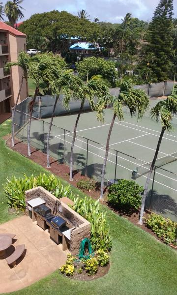 propane grills and tennis courts