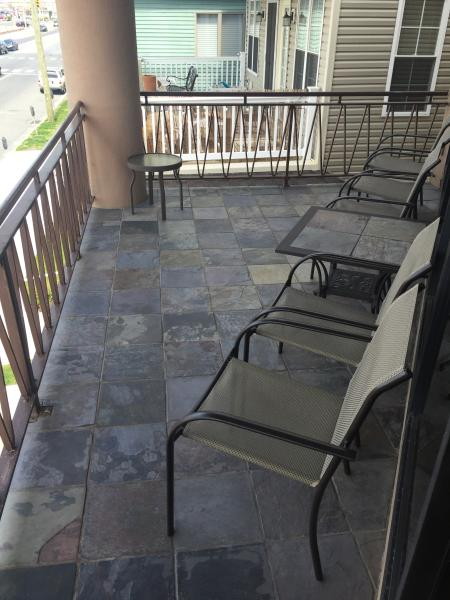 Front Slate Terrace with Seating.
