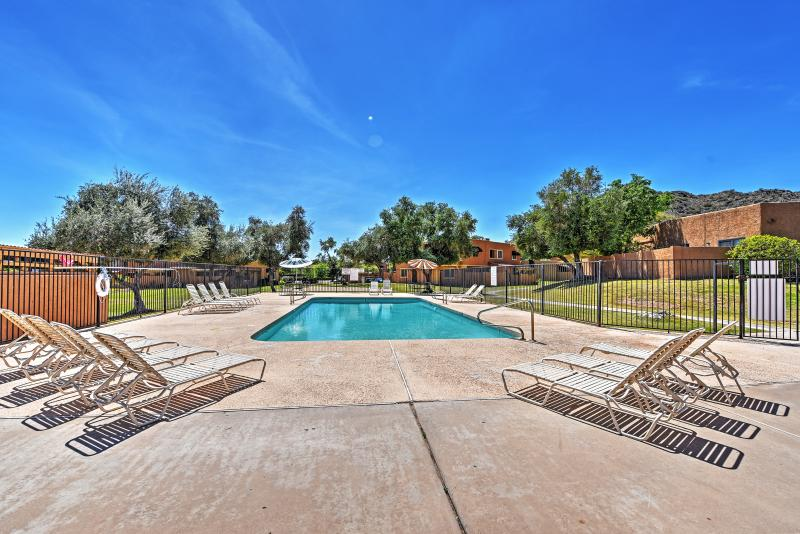 Take a dip in the glistening community pool.