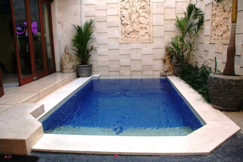 Relax in our cool private plunge pool