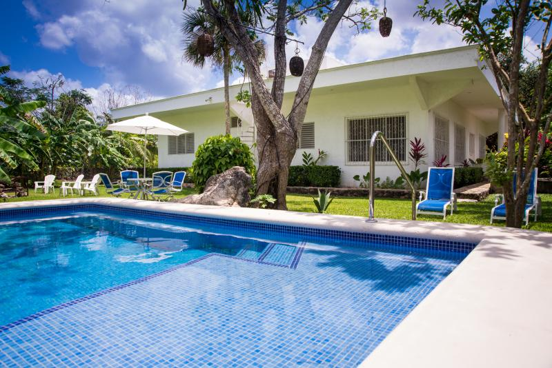 The Lodge is a private home behind the plaza of the historic village El Cedral
