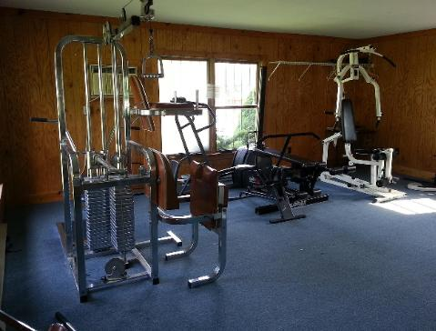 There is a community workout area located near the clubhouse.